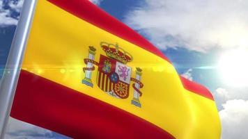 wehende Flagge der spanischen Animation