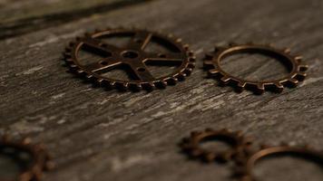 Imágenes de archivo giratorias tomadas de caras de relojes antiguas y desgastadas - caras de relojes 034
