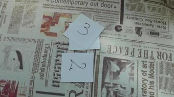 1 a 5 em papéis