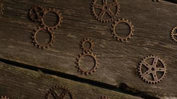 Imágenes de archivo giratorias tomadas de caras de relojes antiguas y desgastadas - caras de relojes 025