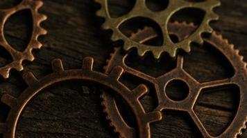 Imágenes de archivo giratorias tomadas de caras de relojes antiguas y desgastadas - caras de relojes 043
