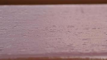 Fondo de textura de madera roja vieja real video