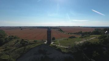 farol em kap arkona, ilha de ruegen, alemanha schinkelturm