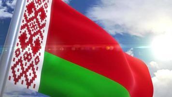 acenando a bandeira da bielorrússia animação russia