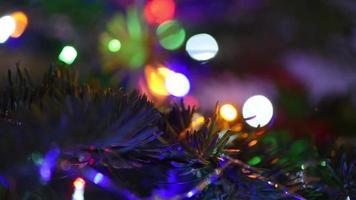 foto macro de enfeites de árvore de natal