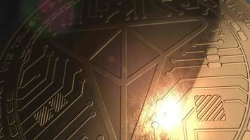 Crypto currency trade coin blockchain de renderização em 3d