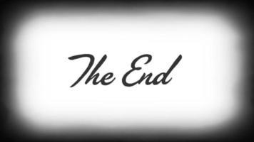 la fine del vecchio film di sfondo