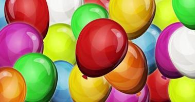 fond de ballons de fête dynamique pour le jeu ui