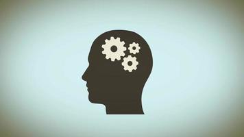 Fondo de creatividad de poder mental con engranajes cerebrales