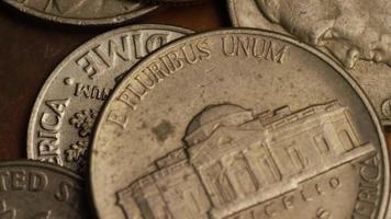 Imágenes de archivo giratorias tomadas de monedas monetarias estadounidenses - dinero 0308