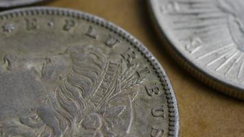 Imágenes de archivo giratorias tomadas de monedas americanas antiguas - dinero 0087