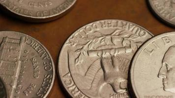 Imágenes de archivo giratorias tomadas de monedas monetarias estadounidenses - dinero 0292