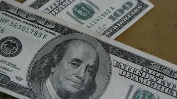Imágenes de archivo giratorias tomadas de billetes de $ 100 - dinero 0150
