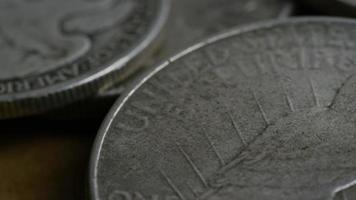 Imágenes de archivo giratorias tomadas de monedas americanas antiguas - dinero 0097