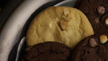 Cinematic, Rotating Shot of Cookies on a Plate - COOKIES 275 video