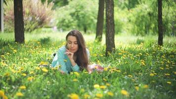 Beautiful Woman in the Meadow