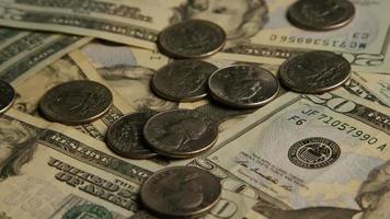 tiro rotativo de dinheiro americano (moeda) - dinheiro 587