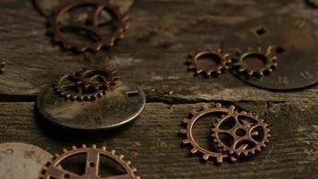Imágenes de archivo giratorias tomadas de caras de relojes antiguas y desgastadas - caras de relojes 065