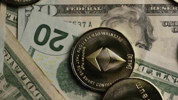roterende opname van bitcoins (digitale cryptocurrency) - bitcoin ethereum 198