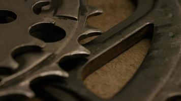 Cinematic, rotating shot of gears - GEARS 037 video