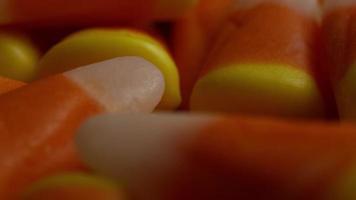 Rotating shot of Halloween candy corn - CANDY CORN 035