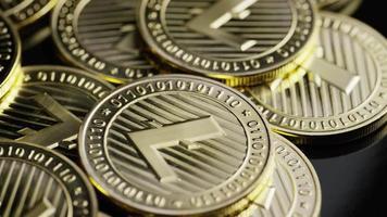 roterende opname van bitcoins (digitale cryptocurrency) - bitcoin litecoin 245