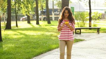 Young Woman With a Smartphone  video