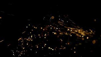 gnistor i ultra slow motion (1500 fps) på en reflekterande yta - gnistor fantom 012 video