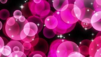 particelle di cerchio scintillante rosa in aumento