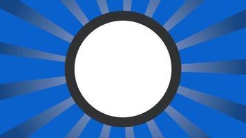 fond de bannière de rayon radial de mouvement video