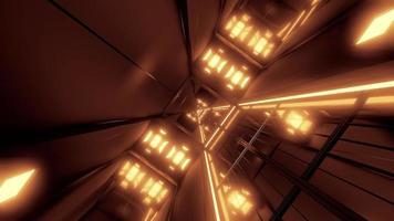 túnel espacial giratório video