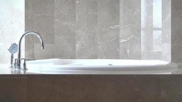 banheira vazia luxuosa branca video