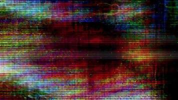 Videofluss 040 - TV-Bildschirmpixel schwanken mit Farbe und Videobewegung