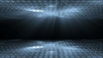 Estructuras futuristas y fondo de luces.