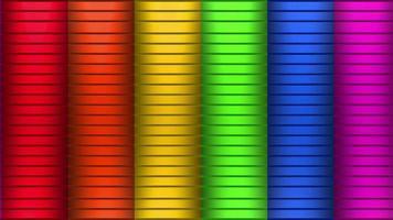 grille de couleurs arc-en-ciel video