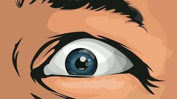 i fumetti hanno spaventato gli occhi dell'uomo
