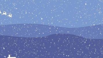 Weihnachtshintergrund mit Weihnachtsmann und Rentier