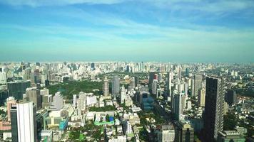 paisagem urbana de bangkok no horizonte da tailândia video