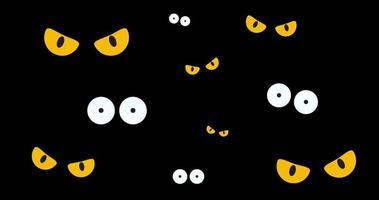 animación de ojos espeluznantes