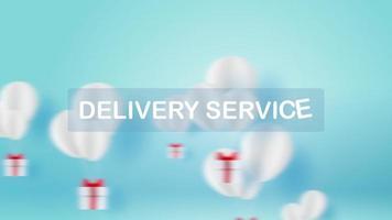 globos blancos cuidando regalos para servicio de entrega