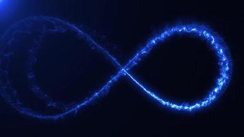 Magic Infinity Sign With Light Strokes Background Loop