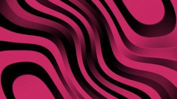 fundo de linhas de onda de listras rosa brilhantes video
