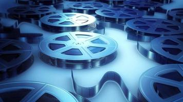 rollos de película en plata video