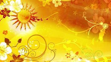 fondo de animación de patrón de sol video