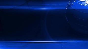 globo che gira in uno sfondo blu scuro