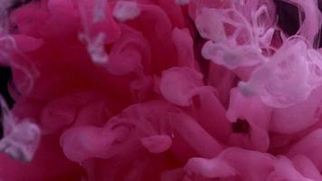 tinta rosa na água video
