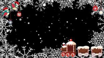 un marco animado de navidad nevado video