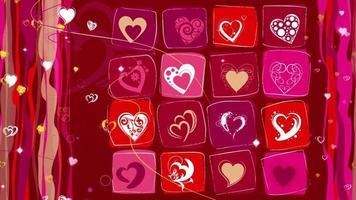 animação em forma de coração