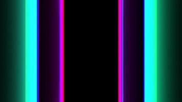 boucle de barres de néon colorées