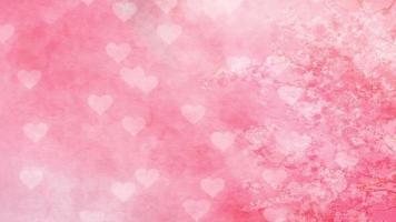 corazones que caen y cerezas en flor